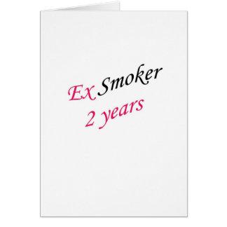 ex-fumador de 2 años tarjeta de felicitación
