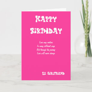 Ex Girlfriend Birthday Cards