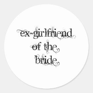 Ex-Girlfriend of the Bride Classic Round Sticker