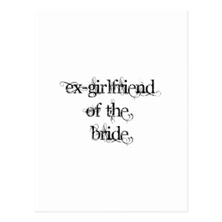 Ex-Girlfriend of the Bride Postcard