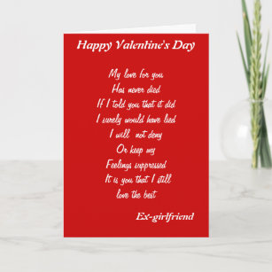 Ex girlfriend cards zazzle ex girlfriend valentines day cards m4hsunfo