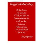 Ex-girlfriend valentine's day cards