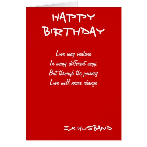 Ex Husband Birthday Cards