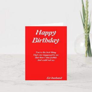 For ex husband birthday cards zazzle ex husband birthday cards m4hsunfo