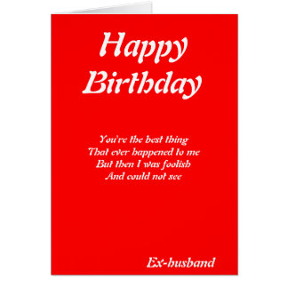 Ex-husband birthday cards