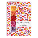 Ex Husband Colored Valentine's Day Greeting Card