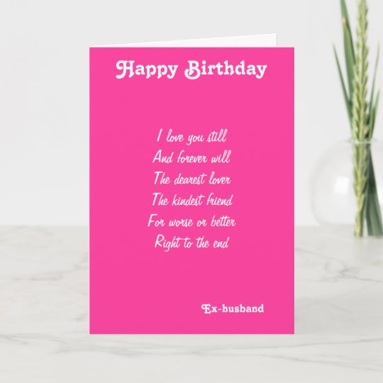 Ex Husband Dearest Lover Birthday Cards