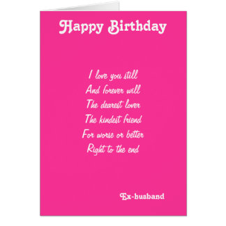 Ex-husband-dearest lover birthday cards