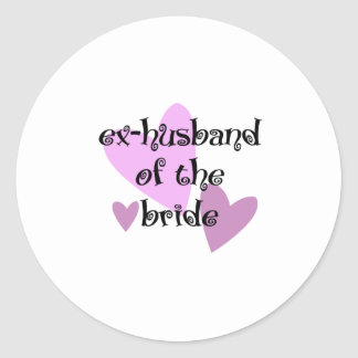 Ex-Husband of the Bride Classic Round Sticker
