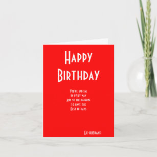 Ex Husband Special Birthday Cards