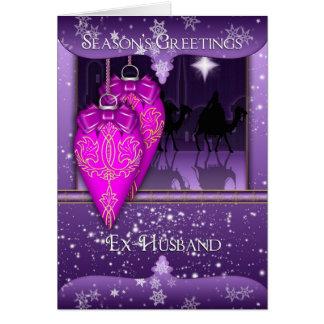 ex-husband, three wise men season's greetings card