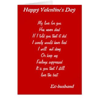 Ex-husband valentine's day cards