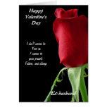 Ex-husband valentine's day greeting card