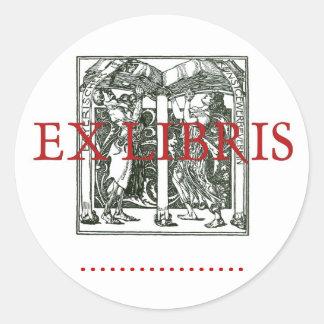 Ex Libris Book Holders Classic Round Sticker