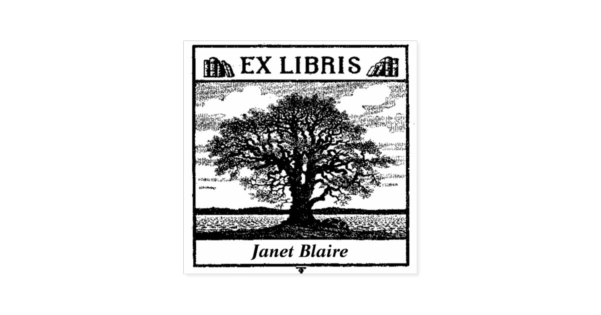 ex libris book plate custom library book stamp zazzle com