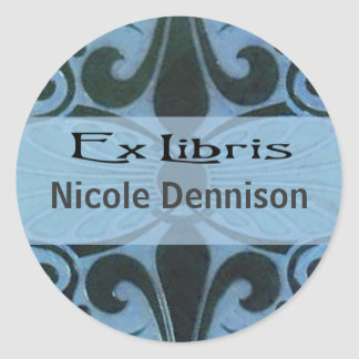 Ex Libris Bookplate Sticker (Tilo blue)
