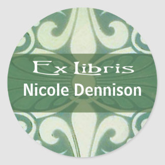 Ex Libris Bookplate Sticker (Tilo green)
