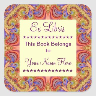 Ex Libris Bookplate Stickers
