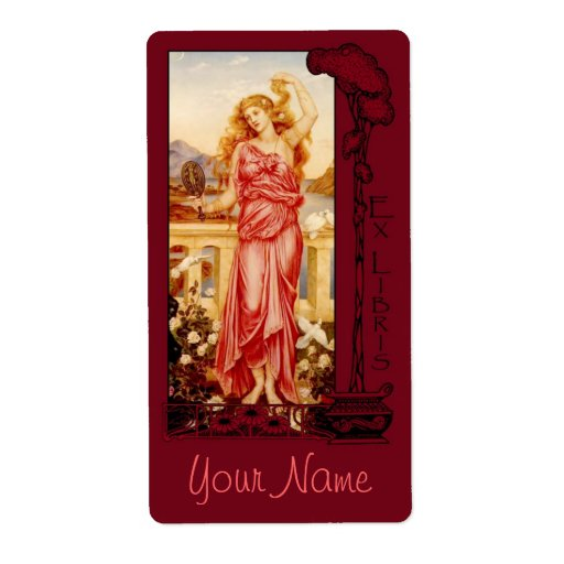 Ex Libris - Helen of Troy Book Plate v2 Personalized Shipping Labels