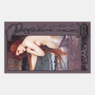 Ex Libris - la placa de libro de Mirmaid Rectangular Altavoces