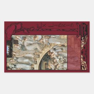 Ex Libris - la placa de libro de oro de la Rectangular Pegatinas
