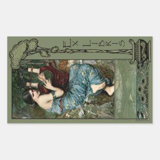 Ex Libris - la placa de libro del encantador Etiqueta