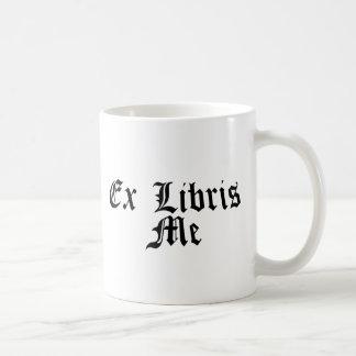 ex libris me - from my library coffee mug