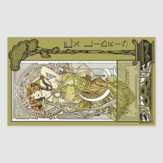 Ex Libris - Nectar Ad Book Plate-Your Name Rectangular Sticker