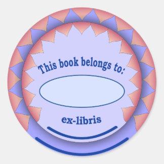 Ex-libris pegatina no 1a