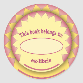 Ex-libris pegatina no 1c