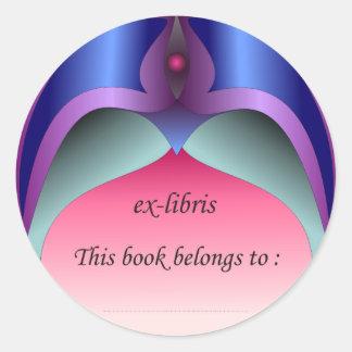 Ex-libris pegatina no 2b