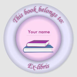Ex-libris pegatina no 4d