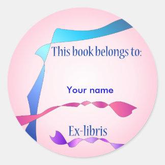Ex-libris pegatina no 5b