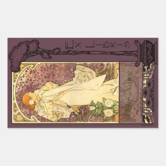 Ex Libris - Sarah Bernhardt Book Plate 2 Rectangular Sticker