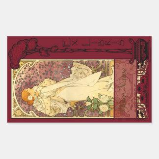 Ex Libris - Sarah Bernhardt Book Plate 3 Rectangular Sticker