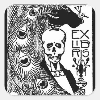 Ex Libris Square Sticker
