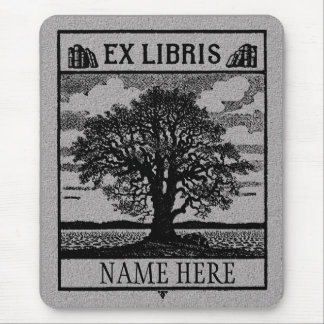 Ex Libris Tree in Field Mouse Pad