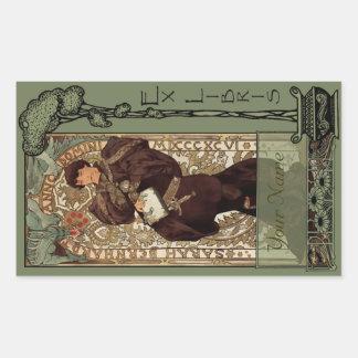 Ex libro de Libris - de Sarah Bernhardt Placa-Su Rectangular Pegatina