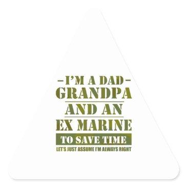Ex Marine Triangle Sticker