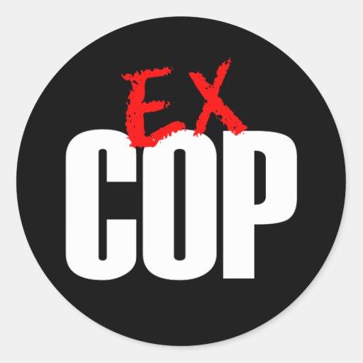 EX OSCURIDAD DEL POLI PEGATINA REDONDA