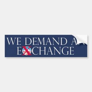 EX pegatina para el parachoques de Obama del cambi Pegatina De Parachoque
