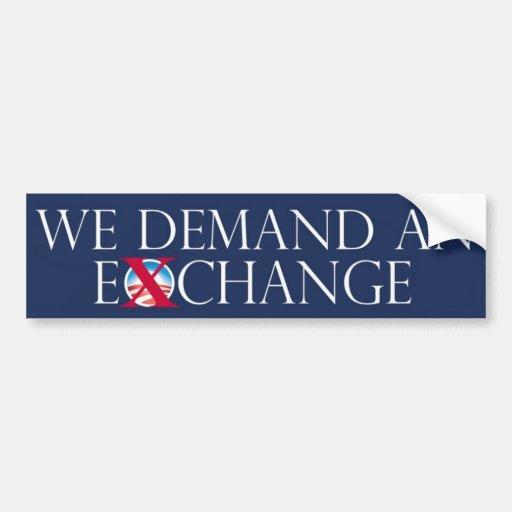 EX pegatina para el parachoques de Obama del cambi Pegatina Para Auto