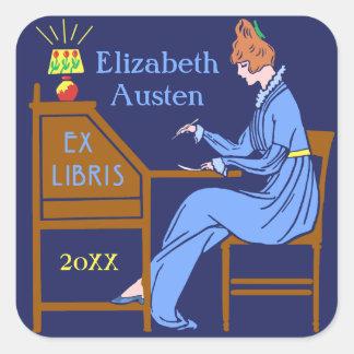 Ex personalizado de la señora escritorio de Deco Pegatina Cuadrada