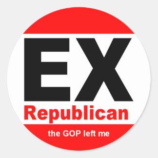 Ex-Republican Lapel Stickers