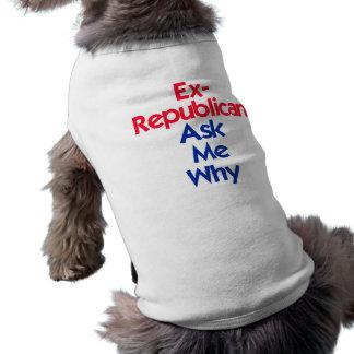 Ex republicano ropa para mascota