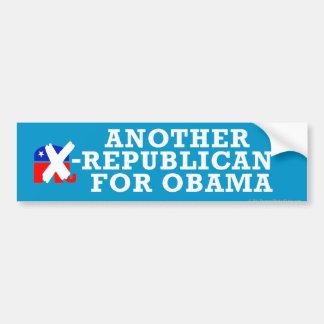 Ex-Republicans for Obama Bumper Sticker