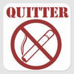 Ex Smoker because Im a QUITTER Square Stickers