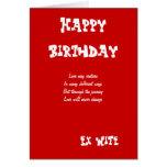 Ex tarjetas de cumpleaños de la esposa