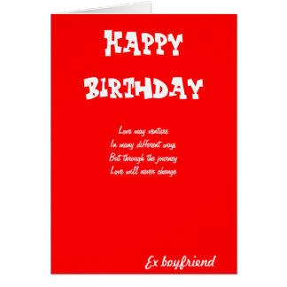 Ex tarjetas de cumpleaños del novio