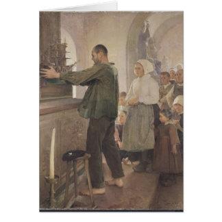 Ex Voto, 1898 Tarjeta De Felicitación